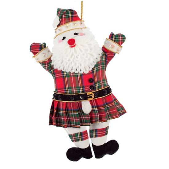 Picture of Christmas Decoration - Tartan Santa