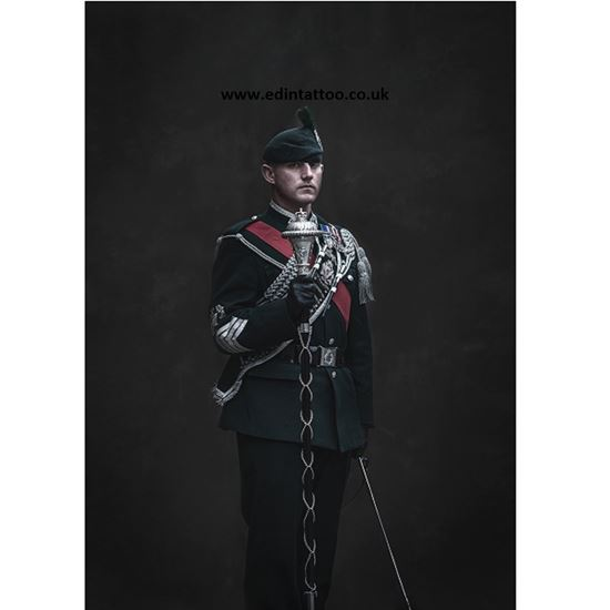 Picture of Exhibition Print - Drum Major 1st Bn The Royal Irish Regiment