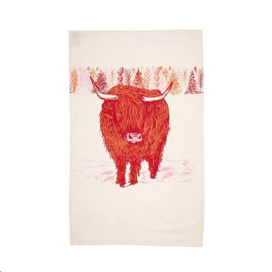 Picture of Highland Cow Tea Towel