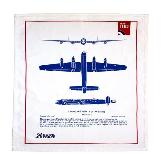Picture of RAF 100 Lancaster Bomber Cotton Tea Towel