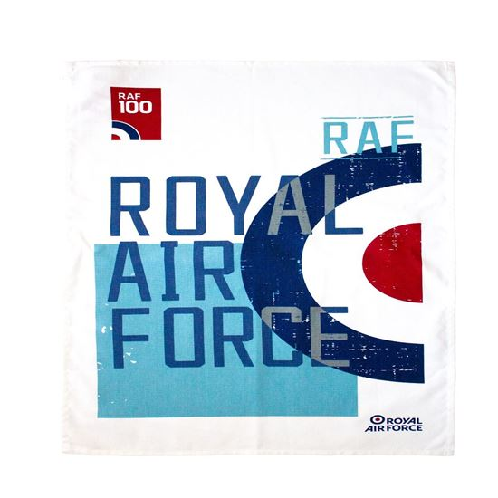 Picture of RAF 100 Roundel Cotton Tea Towel