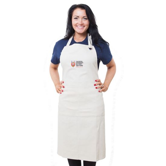 Picture of Tattoo Embroidered Apron - Stone - SALE