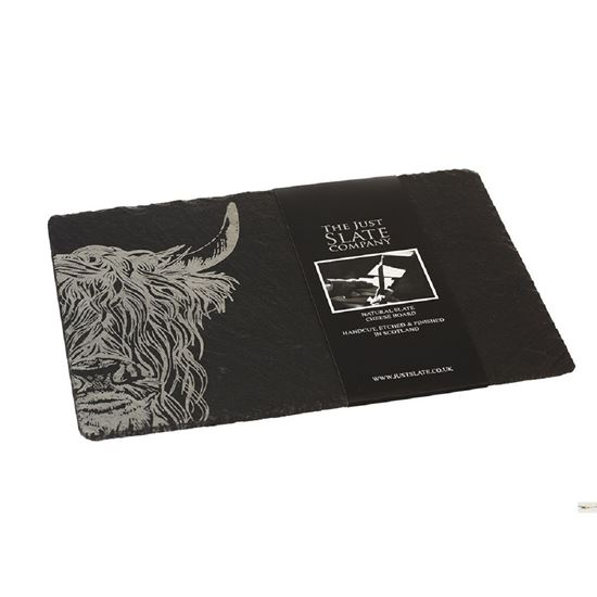 Picture of Highland Cow Slate Cheese Board
