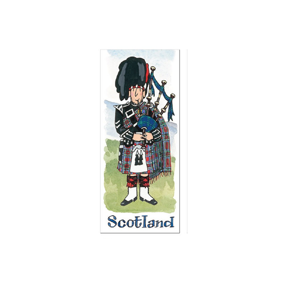 Picture of Bookmark Scottish Piper