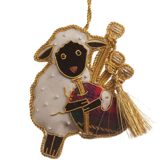 Picture of Christmas Decoration - Bagpiping Sheep