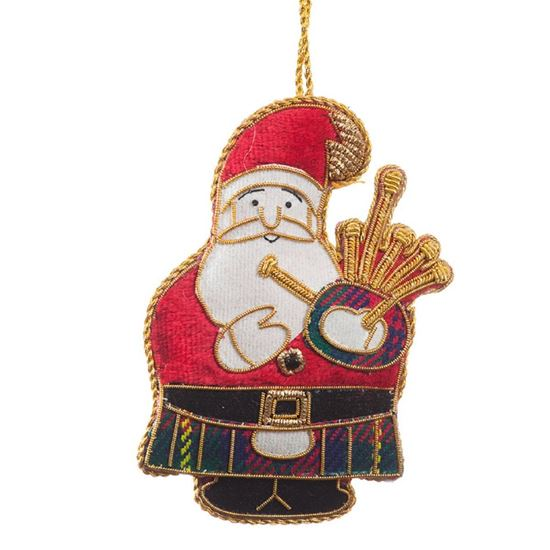 Picture of Christmas Decoration - Bagpiping Santa