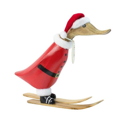 Picture of Skiing Santa Duckling