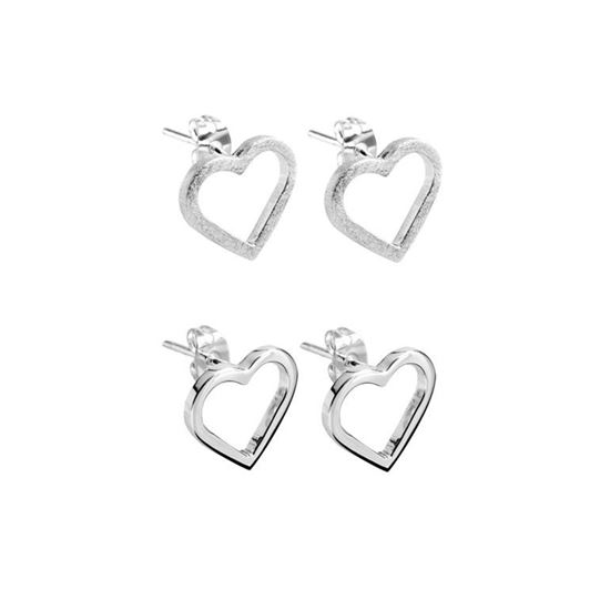 Picture of Eternity Heart Stud Earrings - Reduced Price
