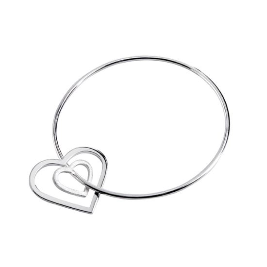 Picture of Classic Eternity Heart Bangle - Reduced Price