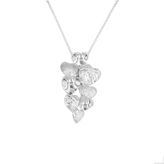 Picture of Uneven Heart Cluster Pendant - Reduced Price
