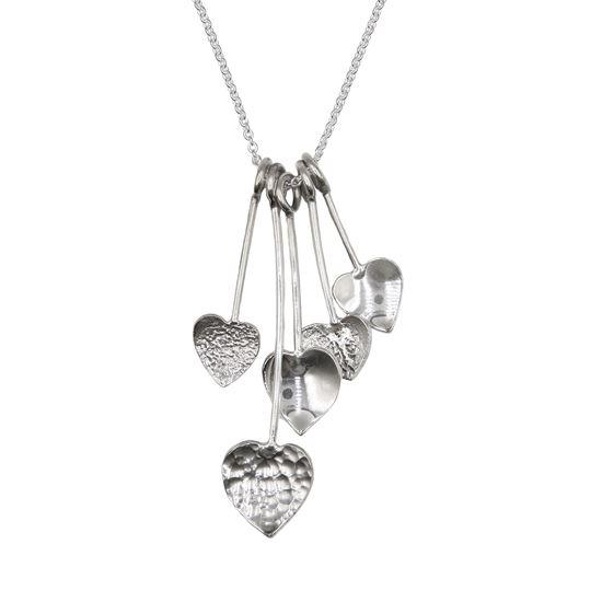 Picture of Uneven Heart Pendulum Pendant - Reduced Price