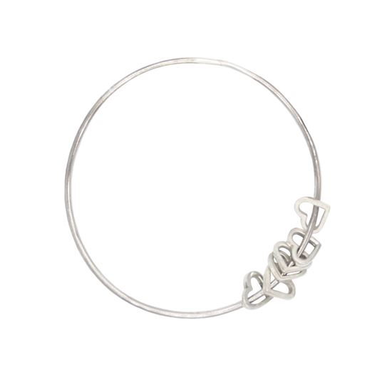 Picture of Small Eternity Heart Bangle - Reduced Price