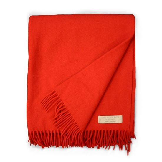 Picture of Lambswool Blanket Red - Reduced Price