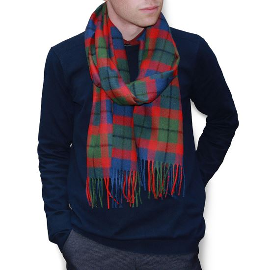 Picture of Tattoo Tartan Large Lambswool Scarf