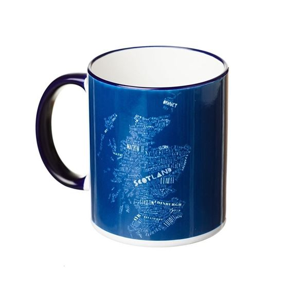 Picture of Deep Blue Scotland Map Mug