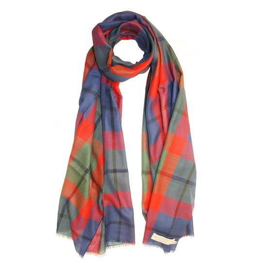 Picture of Tattoo Tartan Extra Fine Merino Stole