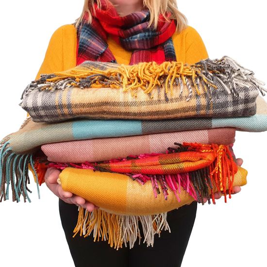 Picture of Tartan Lambswool Blankets