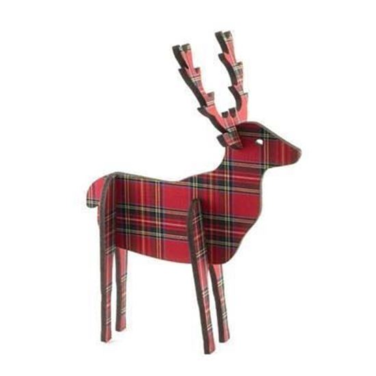 Picture of Standing Wooden Tartan Ornament