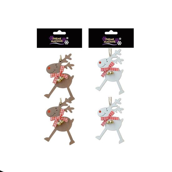 Picture of Rudolph Christmas Hangers with Bells