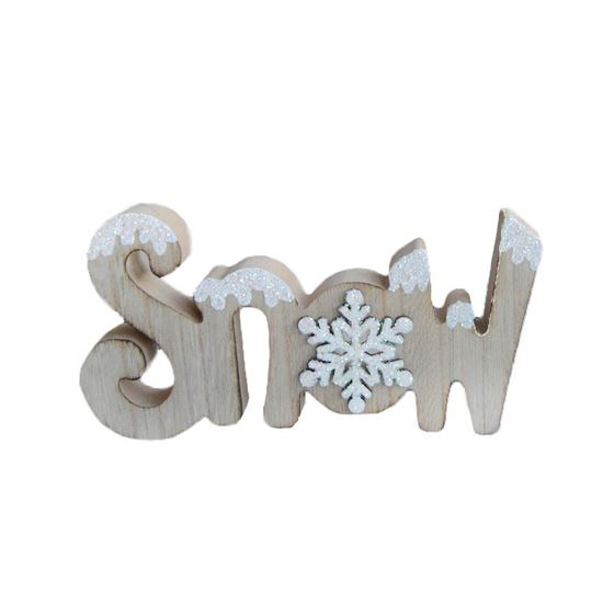 Picture of Snow Glitter Standing Sign