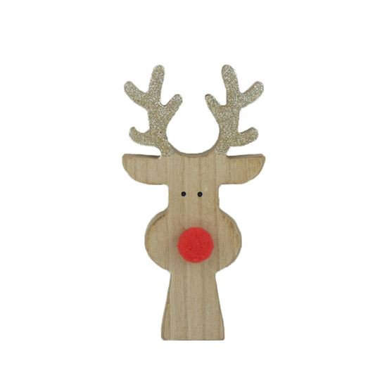 Picture of Standing Rudolph Reindeer Head Christmas Decoration