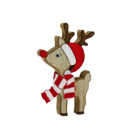 Picture of Standing Wooden Rudolph Reindeer