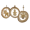 Picture of Wooden Christmas Decoration Triple Pack